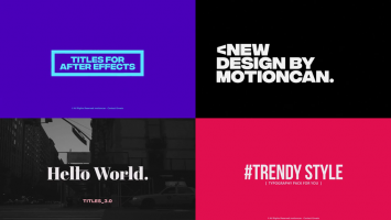 After Effects titles templates