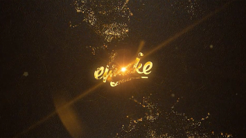 Gold Particles Logo by elmake